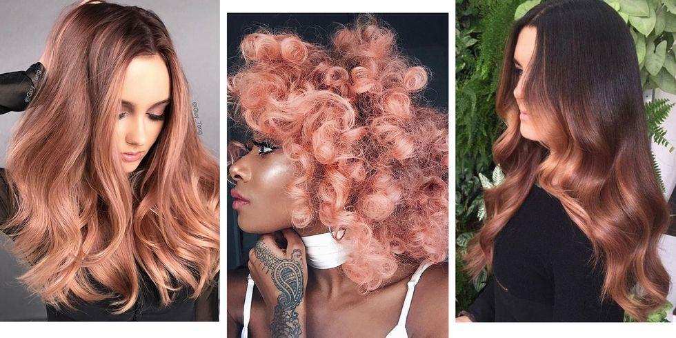 Rose gold μαλλιά